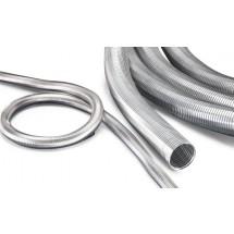 Metall - Absaugschlauch - Edelstahl (VA) - abriebfest - bis 600°C - nur als Rolle lieferbar